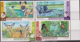 BOTSWANA UNESCO FAUNA FLORA ANIMALS BIRDS ELEPHANT ..4 V.  MNH - UNESCO