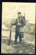Cpa Carte Photo Soldat Du 53ème Mars 1913 Part En Campagne   LIOB90 - Personnages
