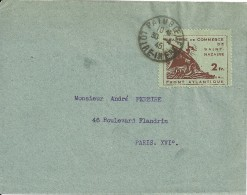 MARCOFILIA - FRANCIA - CARTA CON SELLO CHAMBRE DE COMMERCE DE SAINT NAZAIRE 1945 - Wars