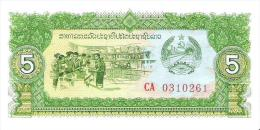 Laos - Pick 26 - 5 Kip 1979 - Unc - Laos