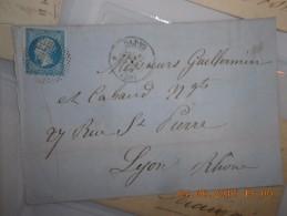 Lot Du 09-06-2016_27_liquidation .  Obit. Bouchon  Sur N°13!!!!superbe. Sur Lettre - 1853-1860 Napoléon III