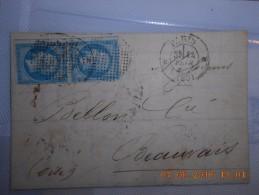 Lot Du 09-06-2016_29_liquidation .  Obit. Bouchon  Sur N°14 Plus Cachet A Date Sur Paire!!!!superbe. Sur Lettre;rare - 1853-1860 Napoleon III