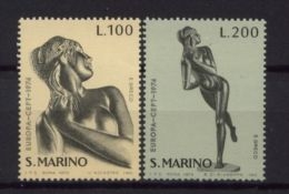 San Marino 1974 EUROPA CEPT Statues Emilio Greco Art Suclpture Nude Stamps MNH SG1002-1003 SC 840-841 Michel 1067-1068 - Sculpture