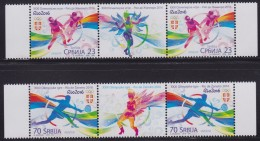 Serbia, 2016, XXXI Summer Olympic Games In Rio De Janeiro (Olimpiadi Estive Di Rio), Stamp-vignette-stamp, MNH (**) - Serbia