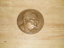 Medaille En Bronze Du President Henri Courbot 1914-1964. Je Maintiendrai.... - France