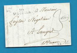 Haute Marne -St Dizier Pour Langres. 1806 - Marcophilie (Lettres)