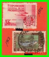 URUGUAY  ( AMERICA )   2 SELLOS  AÑO 1956 - Y -68 - Uruguay