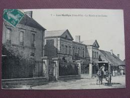 CPA 21 LES MAILLYS La Mairie Et Les Ecoles RARE ANIMATION ATTELAGE EN GROS PLAN 1916 Canton AUXONNE - Autres Communes