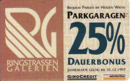 Transport Card-magnetic, Bequem Parken Im Herzen Wiens, Parkgaragen 25% Dauerbonus,Winterthur, GiroCredit - Auto & Verkehr
