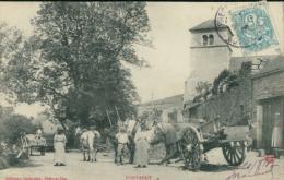 21 FONTANGY / Des Chevaux Et Des Calèches / - France