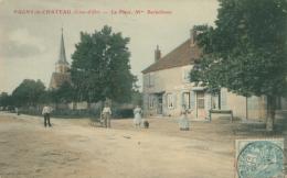 21 PAGNY LE CHATEAU / La Place / CARTE COULEUR - France
