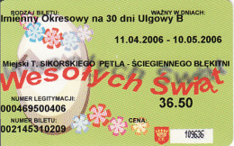 Monatsfahrkarte - Poland, Transport Card - Monthly Pass, Polen - Auto & Verkehr