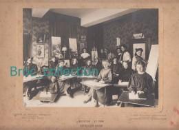 Montluçon, Institution Sainte-Anne, Cours De Dessin Et Peinture, 1910 - 1911, Grande Photo, Photographe J. David - Lieux