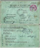 CARTOLINA PRIGIONIERI UNITED STATES INTERNMENT CAMP 127 1943 X BOZZOLO - 1900-44 Vittorio Emanuele III