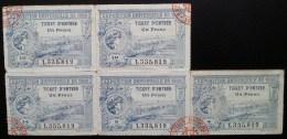 5 Tickets D´entrée EXPOSITION UNIVERSELLE 1900 - Tickets - Entradas
