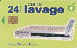 Carte Lavage Sur Station British Petroleum En France, Chip, Wash Card, - Moteurs