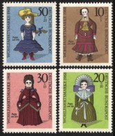 Germany 1968 Berlin Humanitarian Fund 19th Century  Dolls Sitting Position Welfare Stamps SC 9NB57-9NB60 Michel 322-325 - Dolls