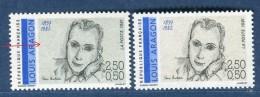 France - Variété N° Yvert  2683 Louis Aragon  Neuf  **  2 Scans Recto Et Verso  Réf. 1222 - Abarten Und Kuriositäten