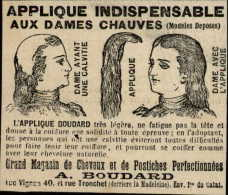 COIFFEURS - CHEVEUX - Photo Issue D´une Revue De 1896 ( Le Soleil Du Dimanche) Collée Sur Carton - Publicités