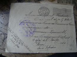 Gouvernement Militaire Paris Des Prisonniers De Guerre Cachet Franchise Postale Militaire Guerre 14.18 - Oorlog 1914-18