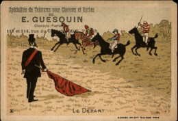 CHROMOS - COIFFEURS - CHEVEUX - Pub PRODUITS DE GUESQUIN - Courses De Cheveux - Autres