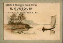 CHROMOS - COIFFEURS - CHEVEUX - Pub PRODUITS DE GUESQUIN - - Chromos
