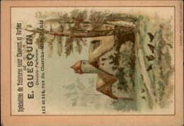 CHROMOS - COIFFEURS - CHEVEUX - Pub PRODUITS DE GUESQUIN - - Autres