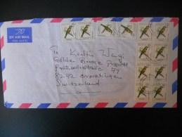 Kenya Lettre De 1999 Pour La Suisse , Affranchi A 12 Timbres - Kenya (1963-...)