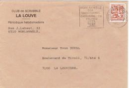 Flamme Morlanwelz Carnaval Du Feureu Sur Enveloppe Du 6/3/1984 Vers La Louvière - Postmark Collection