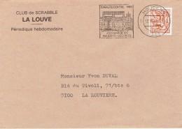 Flamme Canal Du Centre Ascenseur N*1 Houdeng-Goegnies Sur Enveloppe Du 12/11/84 - Postmark Collection