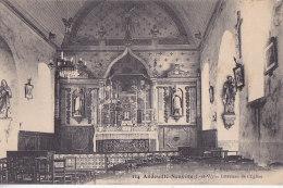 Bc - Cpa Andouillé Neuville - Intérieur De L'Eglise - Other Municipalities