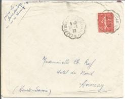 AMBULANT DE CREPY EN VALOIS A CHANTILLY SUR LETTRE DU 30/1/1932 - Marcophilie (Lettres)
