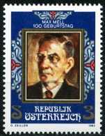 Österreich - Michel 1723 - ** Postfrisch (C) - Max Mell - 1945-.... 2ª República