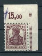 DR-Germania 142b POR OBERRAND**POSTFRISCH BPP 80EUR (Z4591 - Neufs