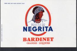 Buvard Rhum Negrita Bardinet (PPP3226) - Buvards, Protège-cahiers Illustrés