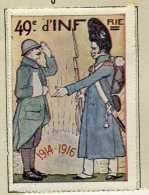 VIGNETTE PATRIOTIQUE : BAYONNE . 40° REGIMENT D'INFANTERIE . - 1914-18