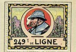 VIGNETTE PATRIOTIQUE : BAYONNE . 249° REGIMENT D'INFANTERIE . - 1914-18