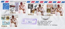 Postal History Cover: Superb Tonga R Cover With The 70th Anniversary Of The Birth Of King Taufa'ahau Tupou IV Set - Royalties, Royals