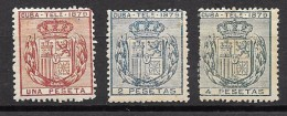 EX COLONIA ESPAÑOLA TELÉGRAFO EDIFIL Nº  46/48   (*) - Cuba (1874-1898)
