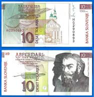 Slovenie 10 Tolarjev 1992 Tolar Que Prix + Port Serie HG Trubar Skrill Paypal Bitcoin OK - Slovénie