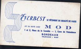 Buvard Vêtements EVERBEST (bordeaux) (PPP3235) - Buvards, Protège-cahiers Illustrés