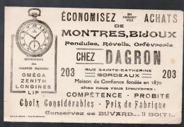 Buvard Montres DAGRON Bordeaux (PPP3236) - Buvards, Protège-cahiers Illustrés