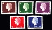 Canada (Scott No. 401p-05p - Queen Elizabeth II)+ [**] Bande De / Phosphore / Tagged - 1952-.... Règne D'Elizabeth II