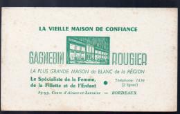 Buvard GAGNEBIEN ROUGIER (vêtements, Linge) Bordeaux (PPP3238) - Buvards, Protège-cahiers Illustrés