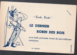 Buvard Le Dernier Robin Des Bois (avec Roger Nicolas) (PPP3239) - Buvards, Protège-cahiers Illustrés