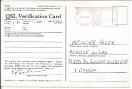 CARTE QSL DE COSTIGAN (MAINE) USA 1991 - Radio Amatoriale