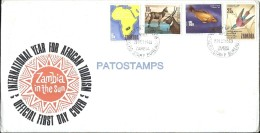 50599 AFRICA ZAMBIA COVER SOBRE INTERNATIONAL YEAR FOR AFRICAN TOURISM YEAR 1969 NO POSTAL POSTCARD - Africa (Other)
