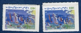 """France - Variété N° Yvert  Adhésif 42  """" Vacances""""  Neuf  **  2 Scans Recto Et Verso  Réf. 1238 - Abarten: 2000-09 Ungebraucht"""