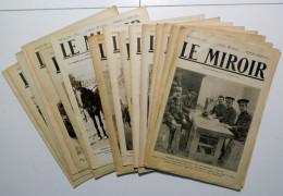 """16 NUMERI (originali) Dal 6 Settembre 1914 Al 27 Dicembre 1914 DEL GIORNALE """"LE MIROIR"""" _ Prima Guerra Mondiale - Giornali"""