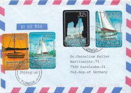 Postal History Cover: Superb Tonga Cover With Sailing Set - Vela